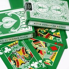 GREEN REVERSED BACK Bicycle deck of playing cards 2nd ed USPCC magic trick gaff