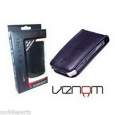 Venom Blackberry Bold 9700 9780 Black Flip & Talk Wallet / Case Screen Protector