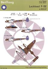 Bestfong Decals 1/72 LOCKHEED F-5E LIGHTNING Chinese Air Force