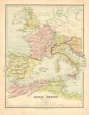 1902 carte ~ L'EMPIRE ROMAIN ~ Western Italie Hispanie Britannia ITALIA