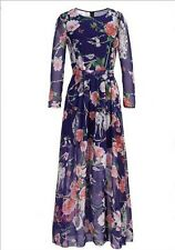 Floral Maxi Dress – Lilac and Mauve - Size 16-18 – BRAND NEW – With Tags