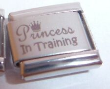 PRINCESS IN TRAINING Italian Charm I Love My Daughter fits Classic Bracelets 9mm