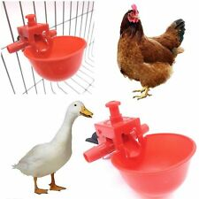5 PCS Duck Hen Coop Feed Chicken Water Cup Drinker Bowl Automatic Feeder