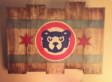 Chicago Cubs Wood Wall Art Decor Baseball Memorabilia Sports MLB World Series