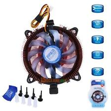 For Intel LGA 775/115X AMD AM2/75 CPU Quiet Cooler Cooling Fan Heatsink Rad