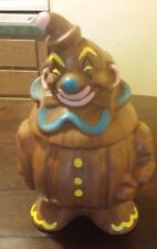 "Rare Old Vintage Collectible Cookie Jar Deforest Clown 13"" Tall 1950/60s"