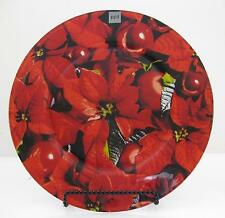 "Designer Platter X-Mass Floral..by PPD..12.75"" diameter..low cost shipping.."