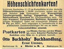 Otto Buchholtz / Ernst Ummen Höxter a.W. Buchhandlung Historische Annonce 1907