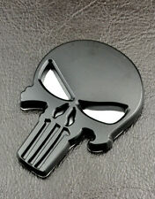 Styling Skull Badge Black The Punisher Car Sticker Emblem For Vaxhaull