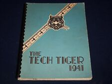 1941 THE TECH TIGER TECHNICAL HIGH SCHOOL YEARBOOK - SPRINGFIELD MA - YB 804
