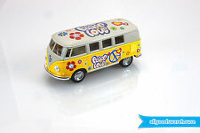1962 Volkswagen Classical Hippie Bus 1:32 scale Die Cast Yellow model VW Kombi