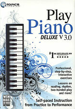 Topics Learn to Play Piano Deluxe v3.0 (WIN/ MAC CD-ROM Software)