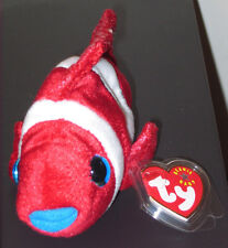 Ty Beanie Baby ~ JESTER the Clownfish Fish ~ MINT with MINT TAGS ~ RETIRED