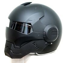 Masei 610 Atomic-Man Iron Flip-Up Bike Motorcycle Helmet Matt Black M L XL