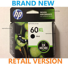 HP 60XL Black Ink Cartridge (CC641WN), High Yield, For Deskjet Photosmart Envy