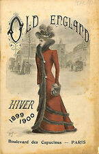 "CATALOGUE GRAND MAGASINS DEPARTMENT STORE CATALOG "" OLD ENGLAND "" PARIS 1899"