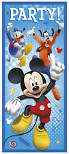 MICKEY MOUSE Roadster Racers PLASTIC DOOR POSTER ~ Birthday Party Supplies Blue