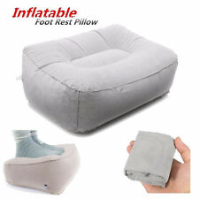 Travel Home Inflatable Soft Foot Rest Pad Footrest Pillow Cushion Relax