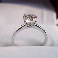 2.00 Carat Diamond 9K White or Yellow Gold Solitaire Engagement Ring Any Size