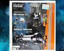 VIVITAR TELESCOPE/MICROSCOPE-20 50mm X 170mm Telescope/Compound Microscope Kit