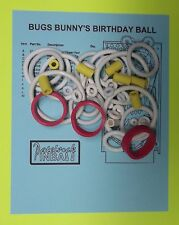 1991 Bally Bugs Bunny's Birthday Ball pinball rubber ring kit