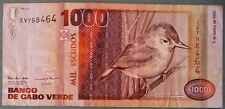 CAPE CABO VERDE 1000 1 000 ESCUDOS NOTE ISSUED 05.06. 1992, P 65 a