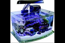 JBJ 3 Gallon Curved Glass Picotope Fish Tank Aquarium Lamp/Filter Included MX-30