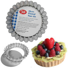 6* 10cm Non Stick Flan Tins Fluted Tart Pie Blossom Mini Quiche Baking Mould