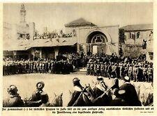 Der Kommandant hält begeisterte Ansprache vor türkischen Soldaten in Jaffa 1915
