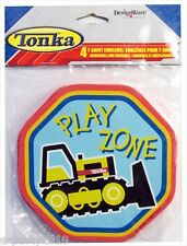 TONKA T-SHIRT EMBLEMS (4) ~ Construction Birthday Party Supplies Favors Trucks