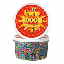 Hama Beads - Pastel Mix 3000 Tub (Midi Beads)