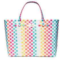 KATE SPADE NEW YORK Extra LARGE TOTE Shopper Beach Shoulder Rainbow Multi Bag