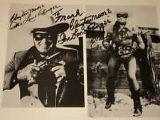 CLAYTON MOORE / THE LONE RANGER /  8 X 10  B&W  AUTOGRAPHED  PHOTO