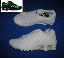 Nike Shox NZ NS Running Shoes Sneakers White Glow Green Women 9 Rare Black Light