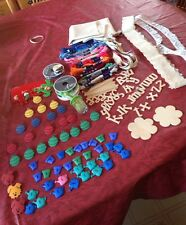 Lot of Craft supplies Mixed Lot Garden Button,DMC, Fabric, Lace, Ribbon
