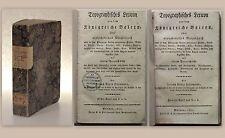 Eisenmann Topographisches Lexicon 2 Teile in1 seltene Erstausgabe 1819 Geografie