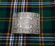 Men's Serpent Celtic Knot Kilt Belt Buckle Silver Brushed Antique/Celtic Buckles