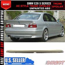97-02 BMW 5 Series E39 4Dr Ac Style Unpainted ABS Trunk Spoiler