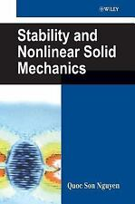 NEW - Stability and Nonlinear Solid Mechanics by Nguyen, Quoc Son
