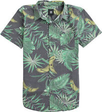 Insight Palm Leach Short Sleeve Button Down Shirt (S) Astro Turf Green