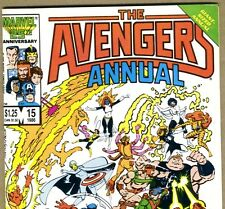 The AVENGERS Annual #15 with Captain America & IronMan from 1986 in Fine- con DM