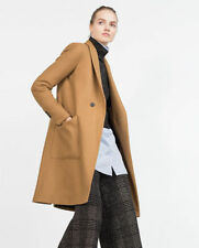 ZARA  WOOL CAMEL BEIGE  BROWN OVERSIZED COAT