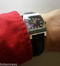 Raketa Wristwatch. Russia USSR(cal. 2609.HA SU). 18 Jewels Rare Purple TV Dial.