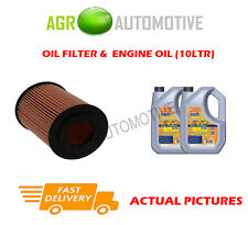 DIESEL OIL FILTER + LL 5W30 OIL FOR MERCEDES-BENZ CLS350 3.0 265 BHP 2012-