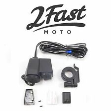 2FastMoto Handlebar Mounted Cell Phone Charger Cigarette Lighter USB Suzuki