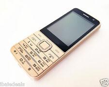 Téléphone portable 4 quad sim écran 2.8 neuf complet dans sa boite DORE / GOLD