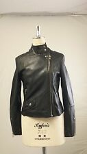 Muubaa Pola  Leather Biker Jacket In Brown  UK10 / US2 / EU34 RRP £375.00