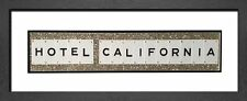 Eagles Lyrics - HOTEL CALIFORNIA - Framed Glitter Wall Art (72cm x 30cm)
