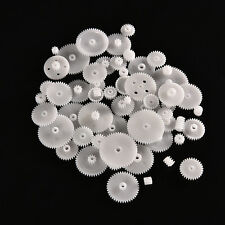 58pcs Plastic Gears M0.5 For Motor Robotics Model Shaft Part DIY Helicopter TSUS