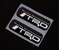 "1.5"" TRD TOYOTA Car Racing Development Resin Badge Emblem Decal Stickers Logo"